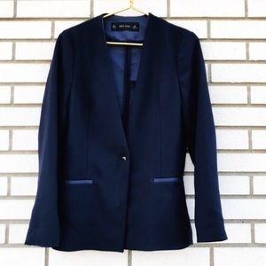 NWOT Zara Navy Blazer